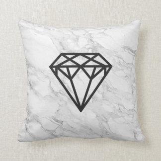 Diamond with Marble Throw Pillow
