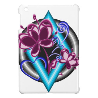 Diamond with purple flowers case for the iPad mini