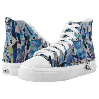 Diamond Zipz High Top Shoes, US Men 4 / US Women 6