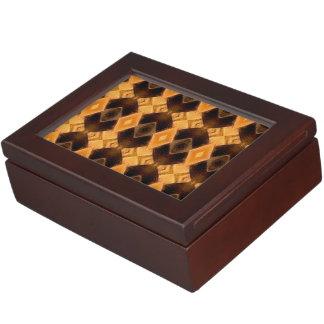 Diamondback Weave Pattern Keepsake Boxes