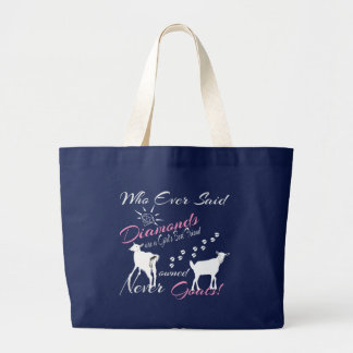 Diamonds and Goats Tote Bags