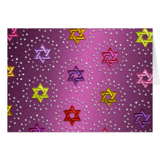 Diamonds and Silver Stars of David Card