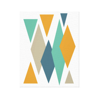 Diamonds and Triangles Mid-century Canvas Print