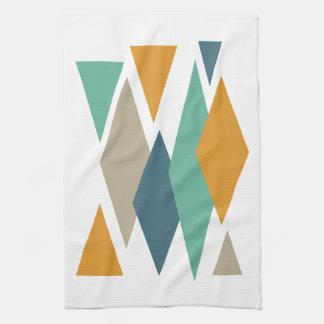 Diamonds and Triangles Mid Century Modern Kitchen Towel