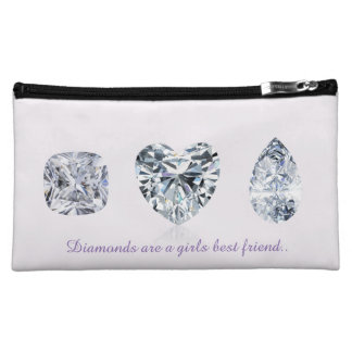 Diamonds are a girls best friend cosmetic bag