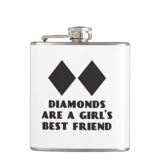 Diamonds are a Girl's Best Friend Flask