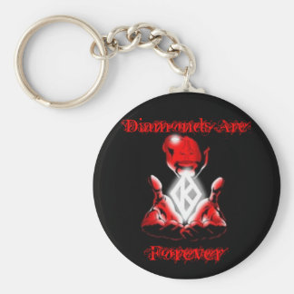 Diamonds are Forever Basic Round Button Keychain
