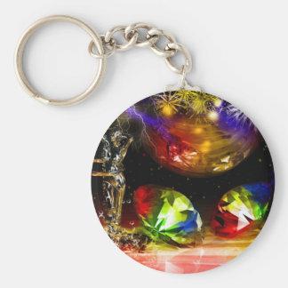 Diamonds art keychain