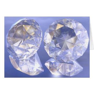 Diamonds bathing in light card