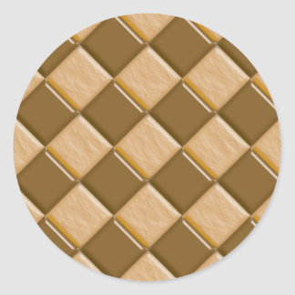 Diamonds - Chocolate Peanut Butter Round Sticker
