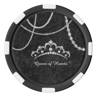Diamonds Crown Black Soft Velvet Poker Chip Poker Chip Set
