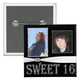 Diamonds Delight Add Photo Sweet 16 2 Inch Square Button