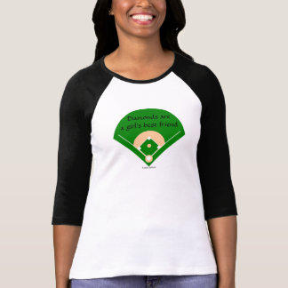 Diamonds... Girl's Baseball shirt