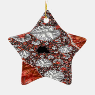 Diamonds in the Rough Fractal 3 Ceramic Ornament