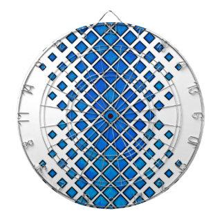 Diamonds Larger to Small Blue Dartboard