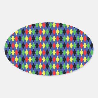 Diamonds Oval Sticker