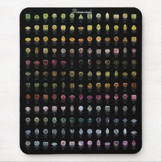 Diamonds Palette Mouse Pad