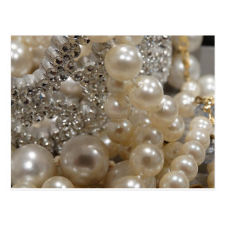 Diamonds & Pearls Postcard