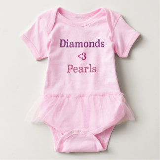 Diamonds & Pearls Tutu Baby Bodysuit