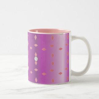 Diamonds & Pearls Two-Tone Coffee Mug