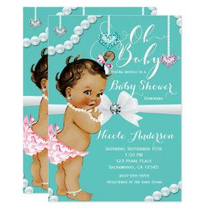 Diamonds U0026 Pearls Vintage Baby Girl Shower Invitation