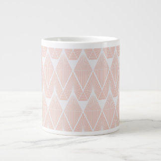 Diamonds pink large coffee mug