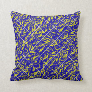 Diamonds Shaded Blue-Yellow Decor-Soft Pillows