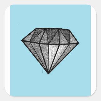 Diamonds Square Sticker