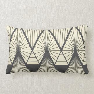Diamonds yellow lumbar pillow