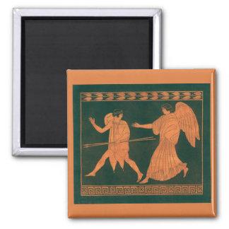 Diana and an Angel, Vintage Roman Mythology Magnet