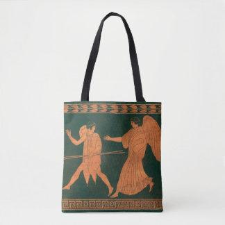 Diana and an Angel, Vintage Roman Mythology Tote Bag