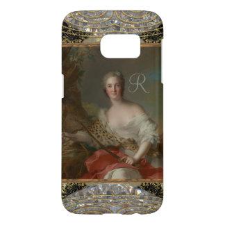 Diana Fine Art Girly Baroque Monogram Samsung Galaxy S7 Case