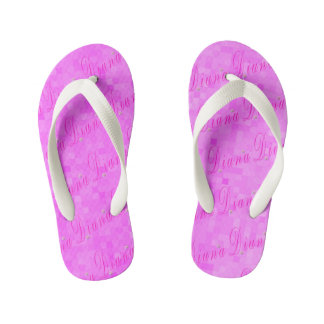 Diana Girls Name Logo, Kid's Flip Flops