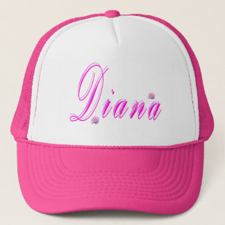 Diana Girls Name Logo, Trucker Hat