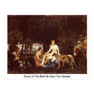 Diana In The Bath By Hans Von Marees Postcard