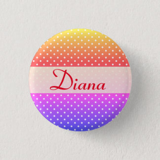 Diana Namensschild Anstecker 1 Inch Round Button