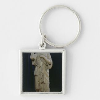 Diana of Gabii Silver-Colored Square Keychain