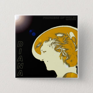 Diana, Princess of Wales 2 Inch Square Button