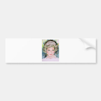 DIANA - PRINCESS OF WALES - watercolor portrait.3 Bumper Sticker