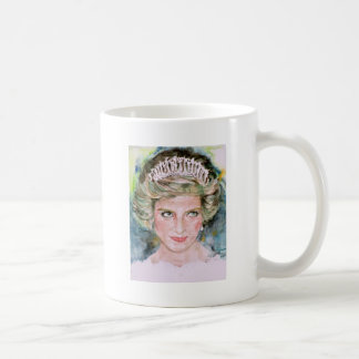 DIANA - PRINCESS OF WALES - watercolor portrait.3 Coffee Mug