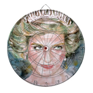 DIANA - PRINCESS OF WALES - watercolor portrait.3 Dartboard