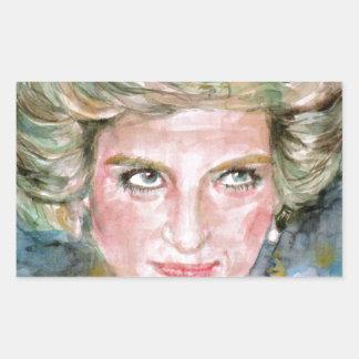 DIANA - PRINCESS OF WALES - watercolor portrait.3 Sticker