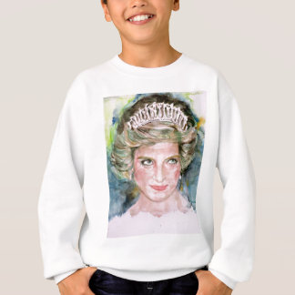 DIANA - PRINCESS OF WALES - watercolor portrait.3 Sweatshirt