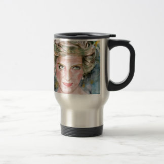 DIANA - PRINCESS OF WALES - watercolor portrait.3 Travel Mug