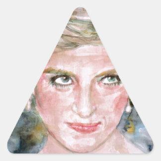 DIANA - PRINCESS OF WALES - watercolor portrait.3 Triangle Sticker