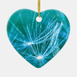 Diana's Dandelion Ceramic Heart Ornament