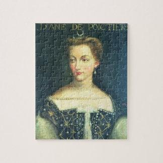 Diane de Poitiers (oil on canvas) Jigsaw Puzzle