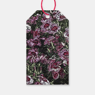 DIANTHUS FLOWERS GIFT TAGS