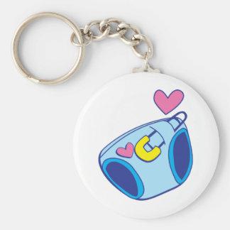 Diaper baby basic round button keychain