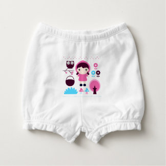 Diaper baby bloomers with Manga girl Diaper Cover